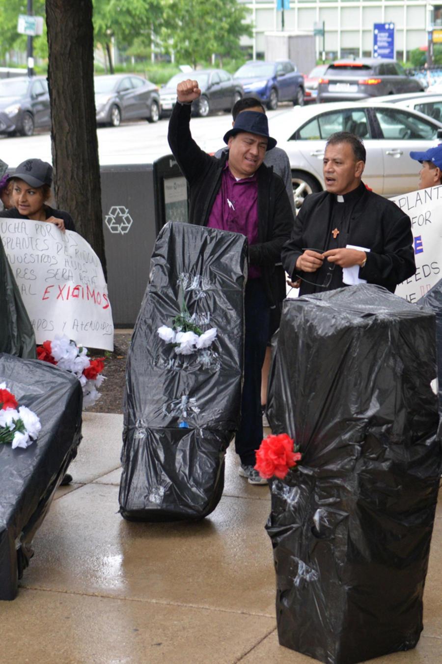 Protestas de enfermeros en EEUU en una imagen de archivo