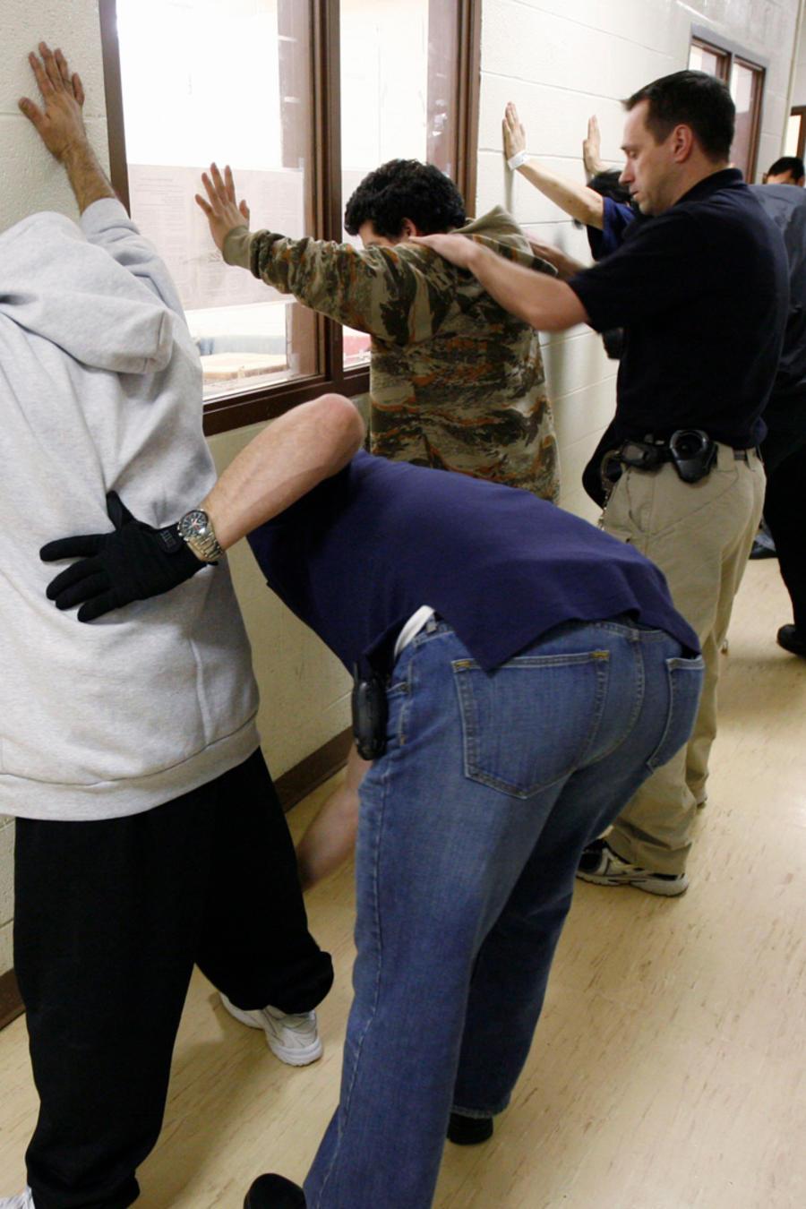 Inmigrantes siendo detenidos en EEUU en una imagen de archivo