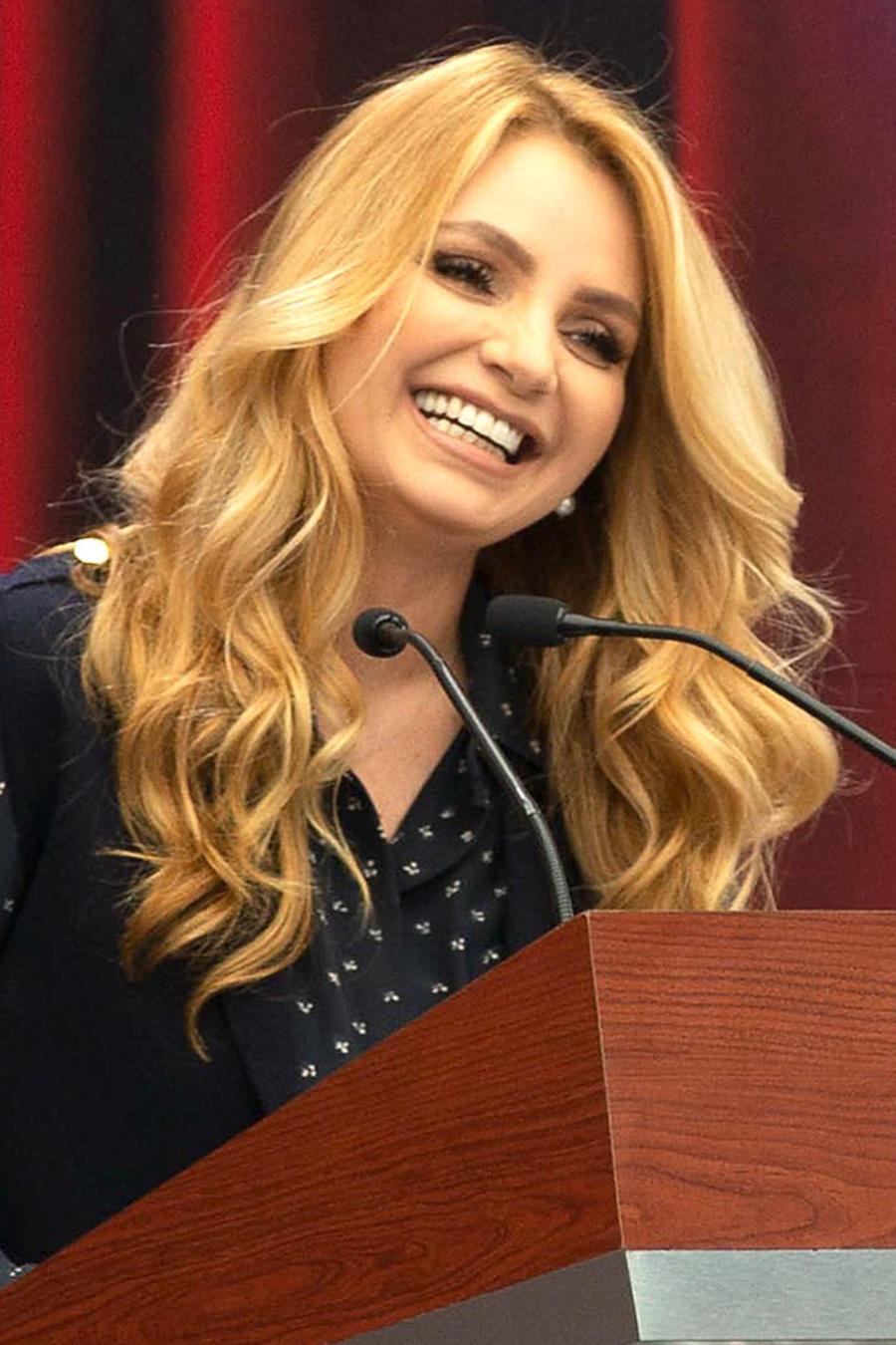 Angélica Rivera en los Premios Luz de Plata, México, 2018