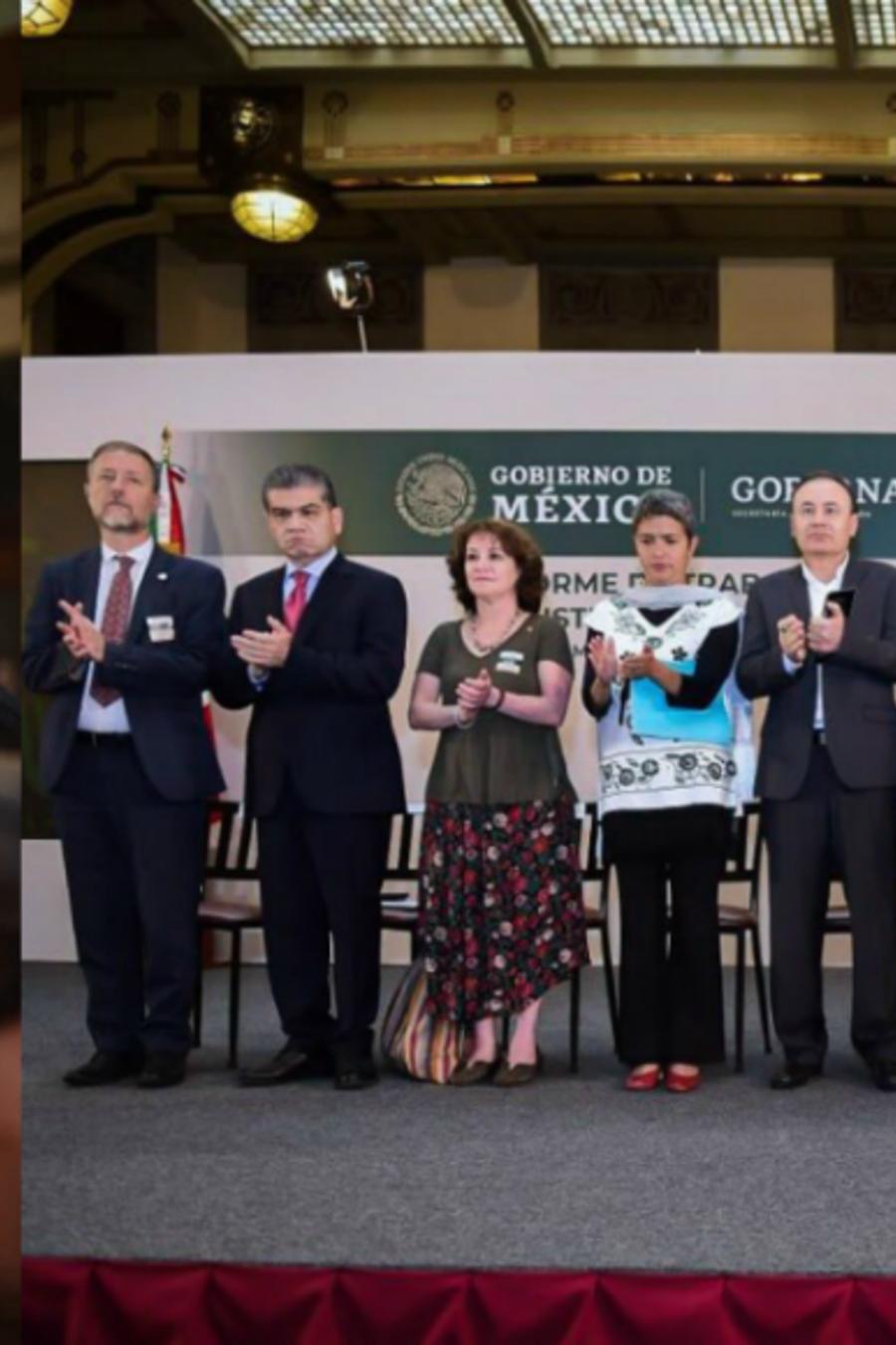 Conferencia en Palacio Nacional para tratar el tema de los desaparecidos