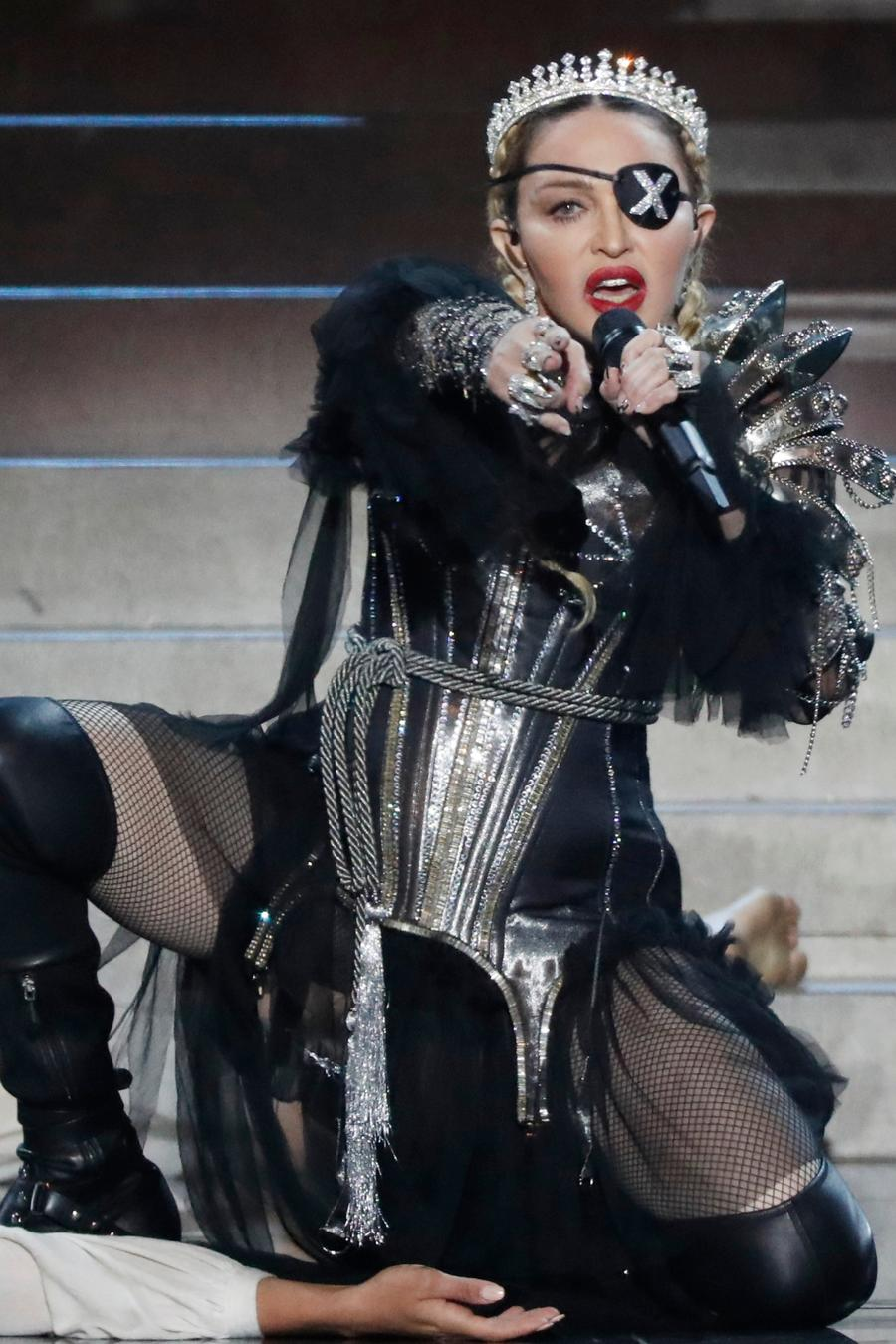 Madonna performs live in concert