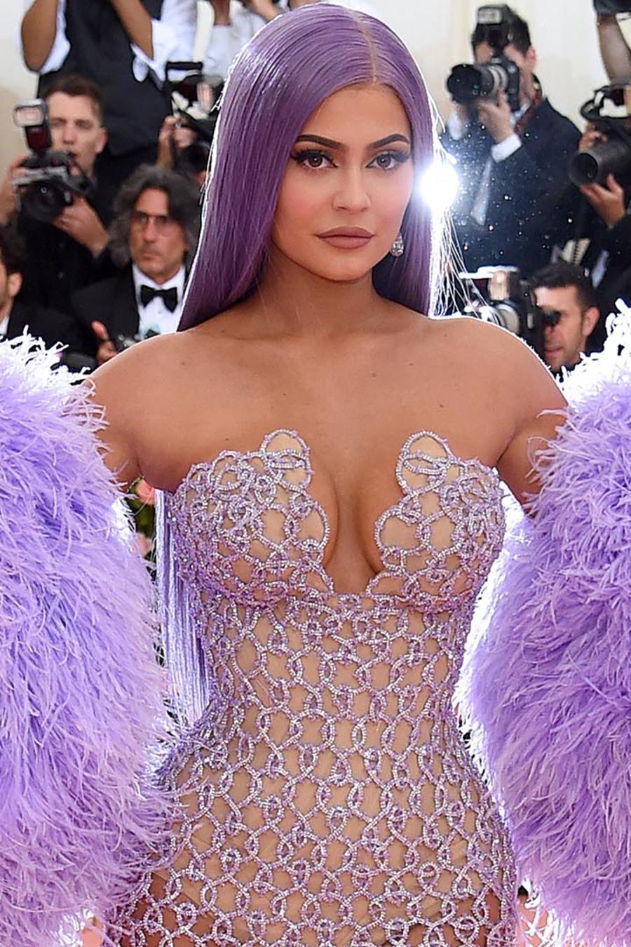 Kylie Jenner en la alfombra roja de la Met Gala 2019