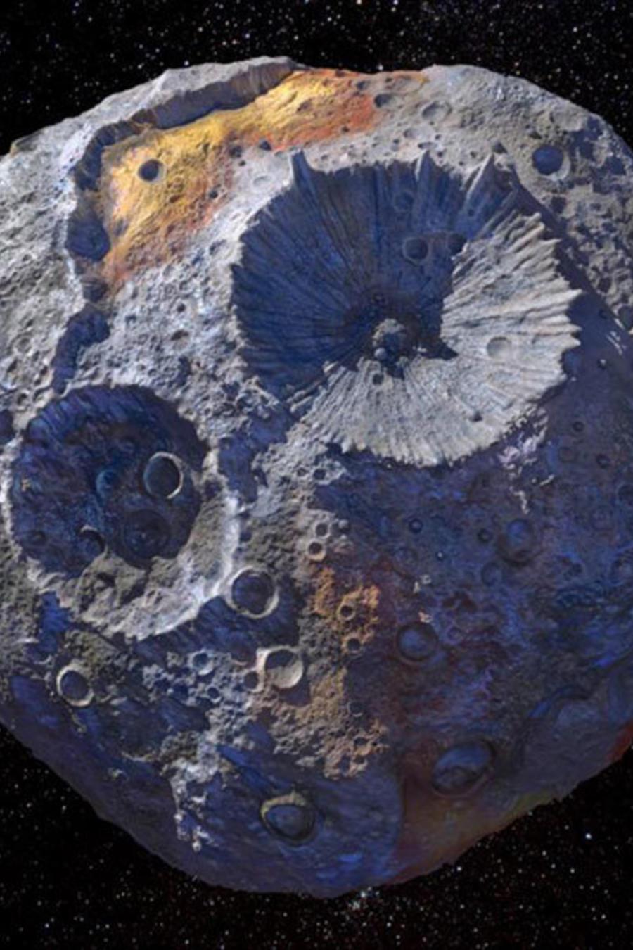 Imagen creada por la NASA del asteroide Psyche 16