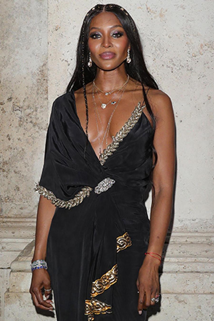 Naomi Campbell posa en Roma, Italia, mayo de 2019
