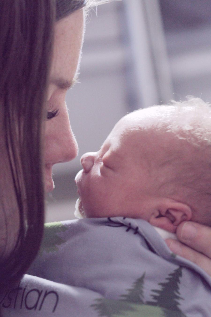 Madre con su bebé