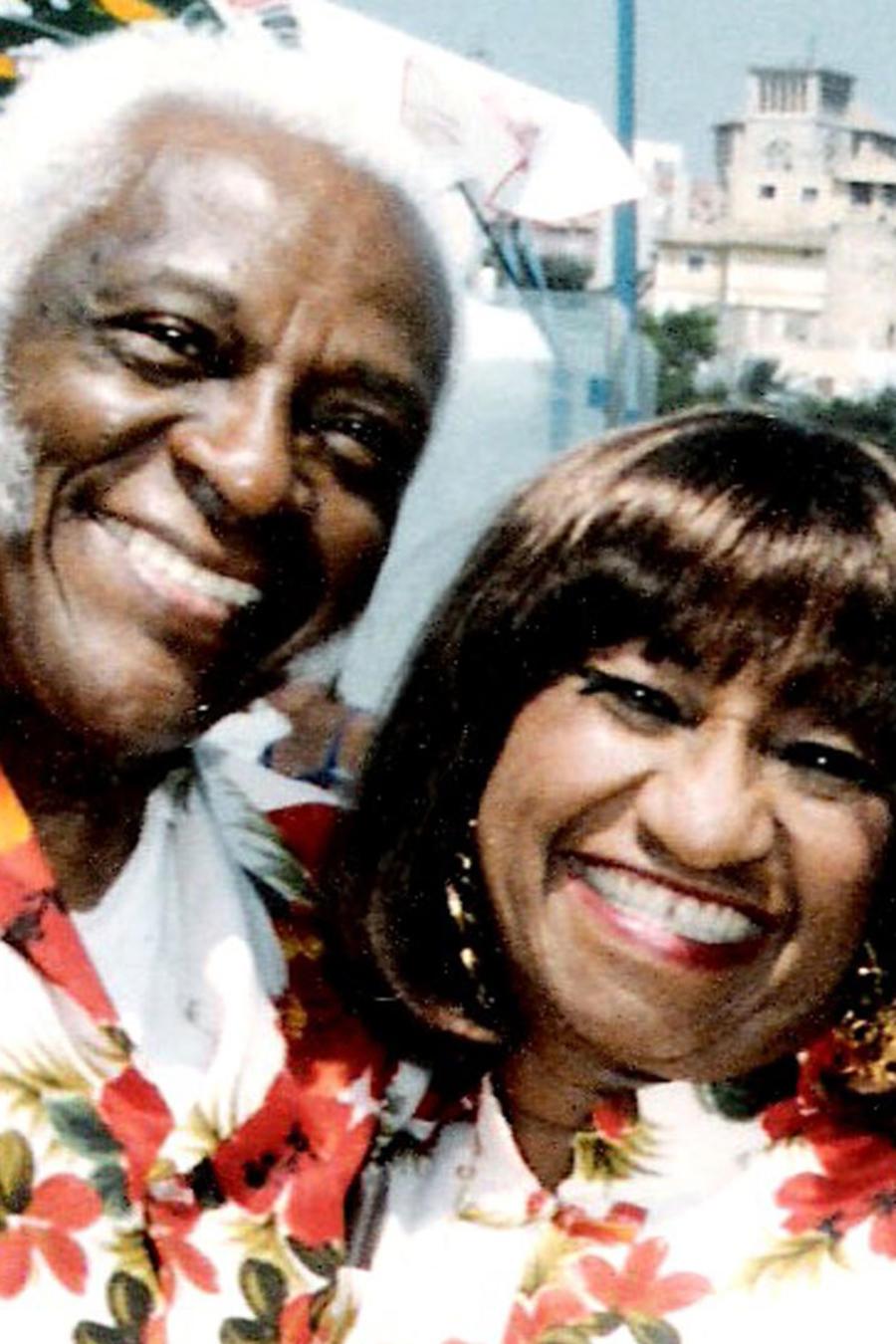 Celia Cruz y Pedro Knight
