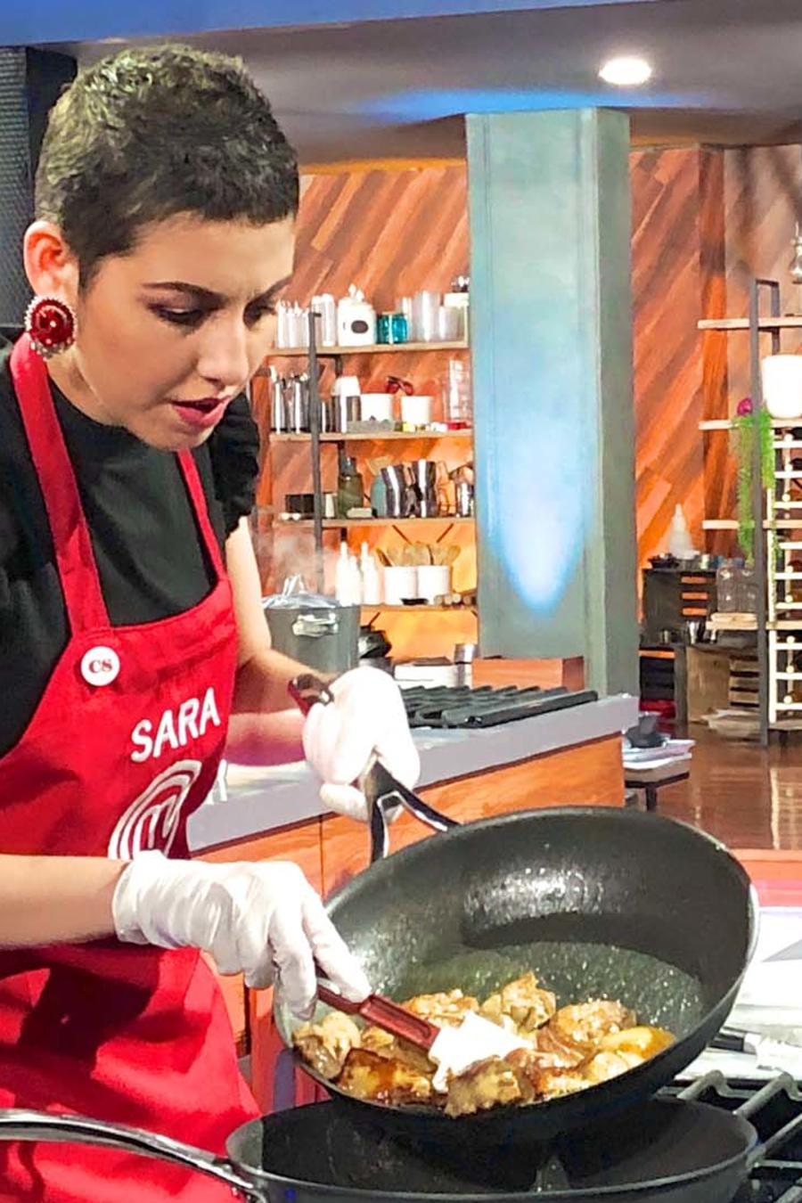 Sara Ordoñez y John Pardo en MasterChef Latino 2