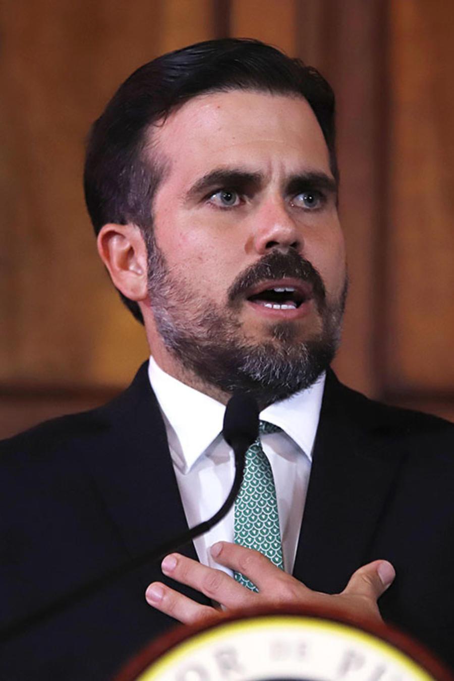 El gobernador de Puerto Rico, Ricardo Rosselló, durante una conferencia de prensa en la Fortaleza, sede del ejecutivo, en San Juan.
