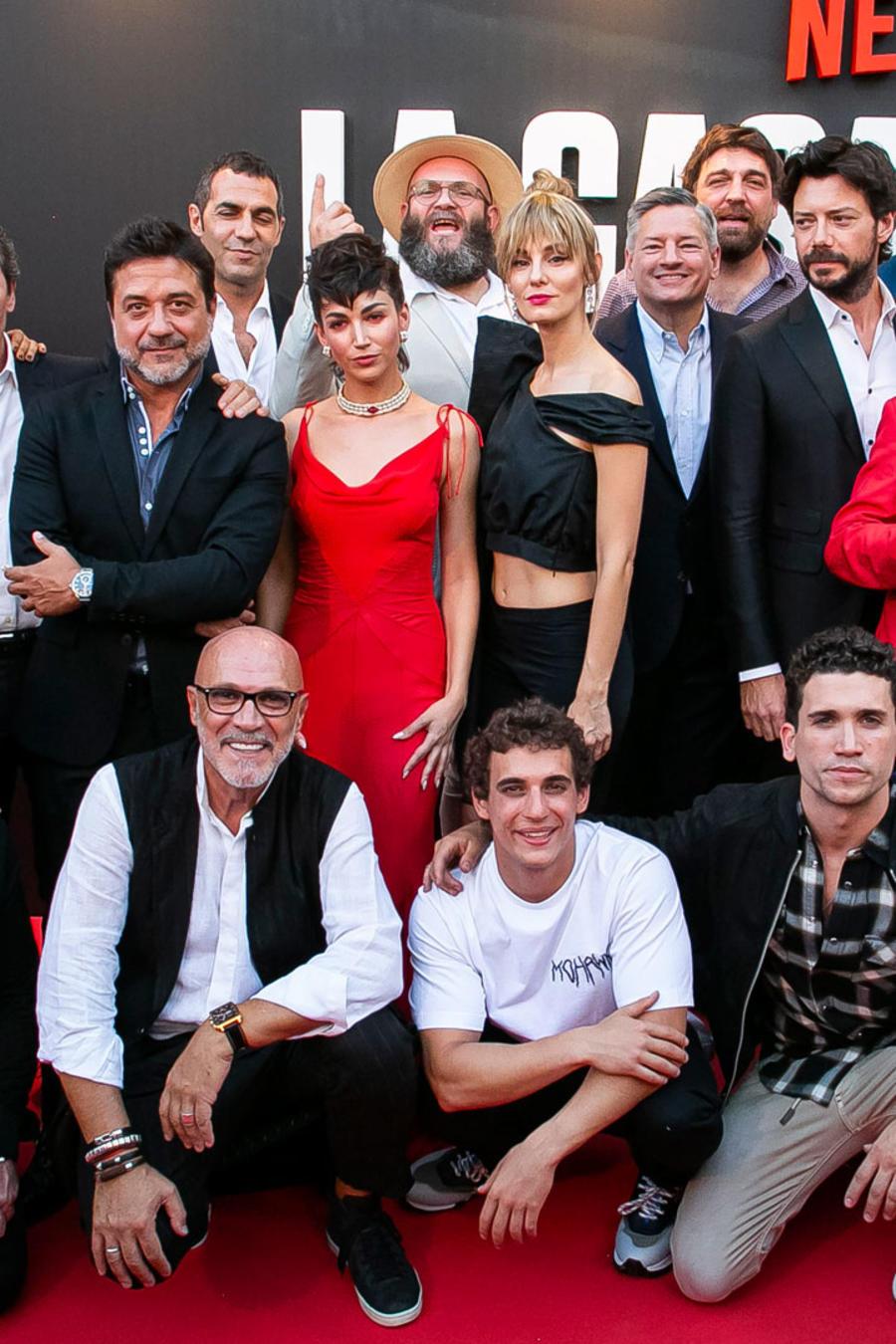"""Elenco de """"La casa de papel"""" en la red carpet en Madrid, 2019"""