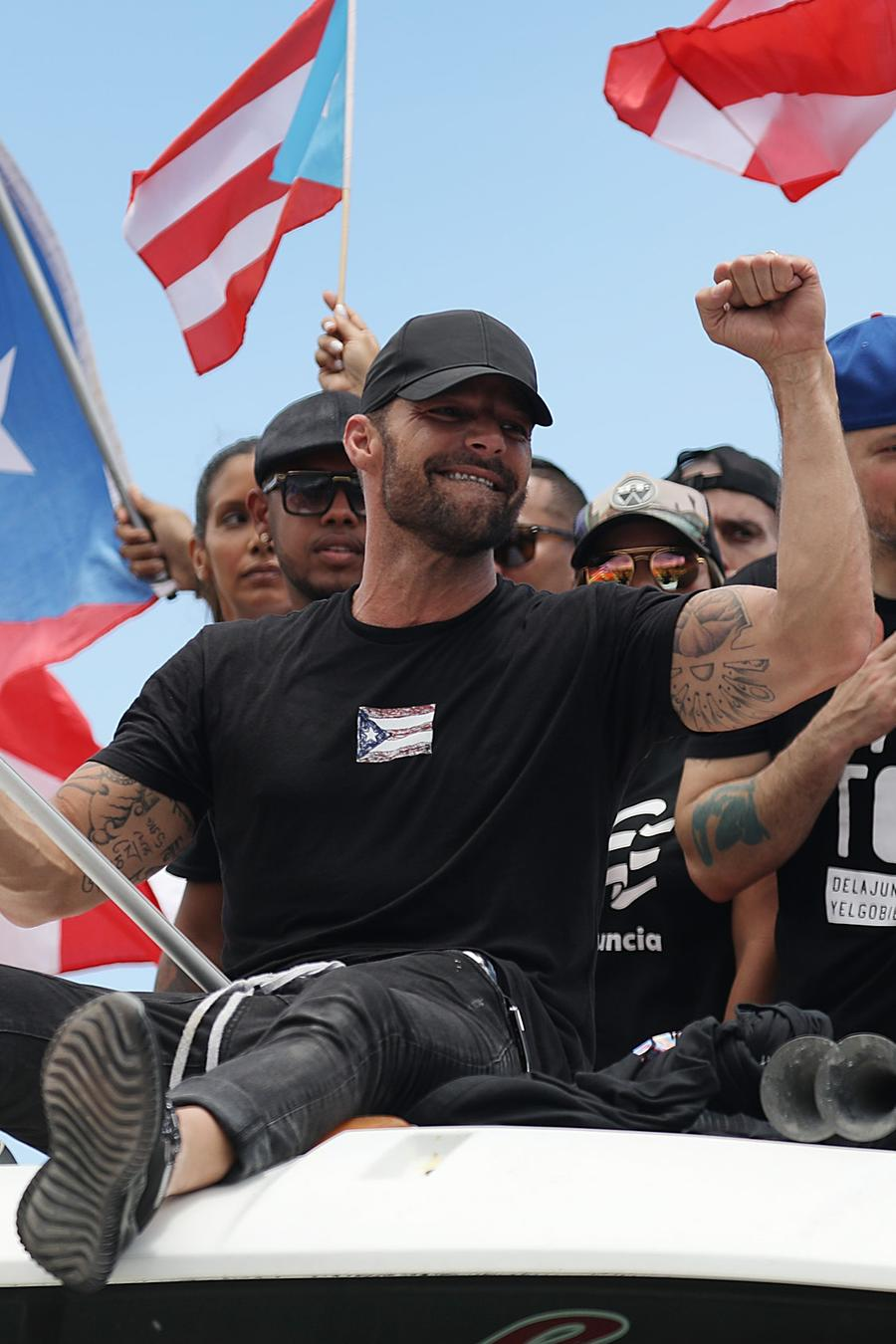 Ricky Martin in Puerto Rico protest