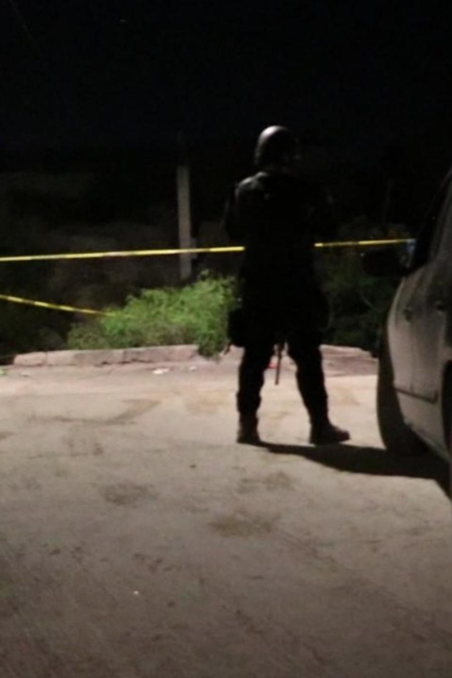 Fotografía del sitio donde murió baleado un inmigrante salvadoreño en Coahuila