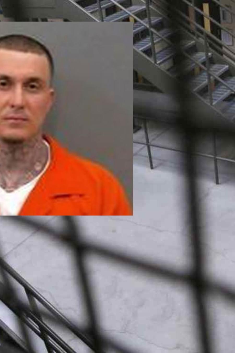El preso fugado de una cárcel de Arkansas Wesley Gullett, líder de una pandilla supremacista blanca.