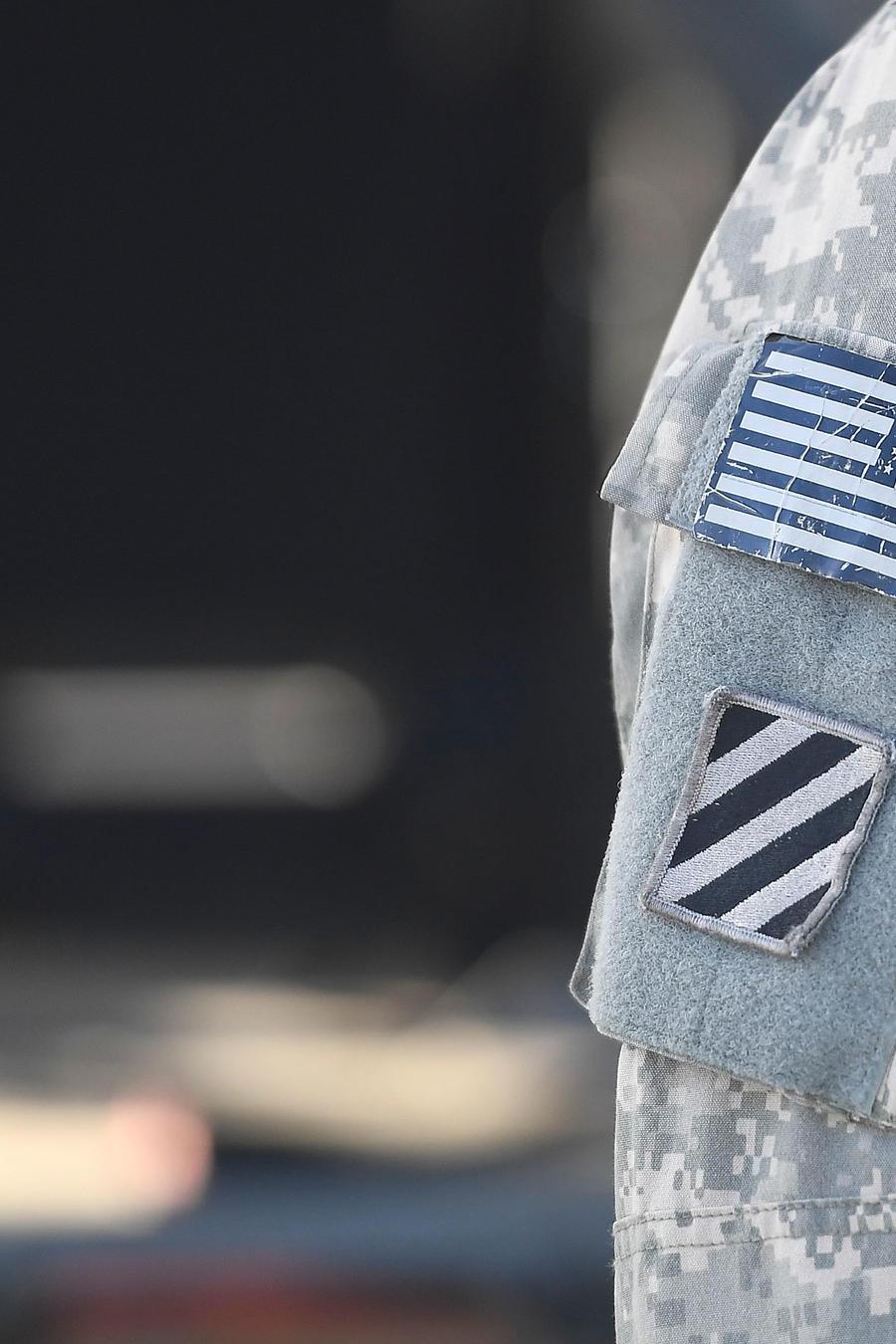 Insignia en el uniforme de los soldados estadounidenses.