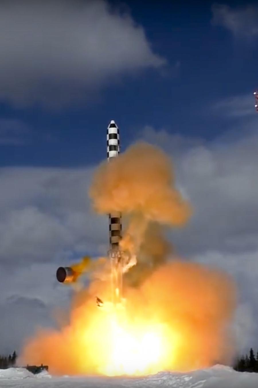 Imagen de archivo del lanzamiento de un misil ruso en marzo de 2018.