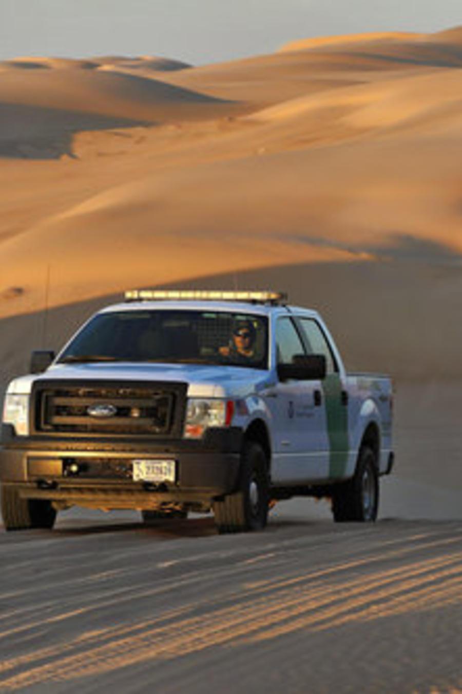 Un coche utilizado por la Patrulla Fronteriza en una foto de archivo.