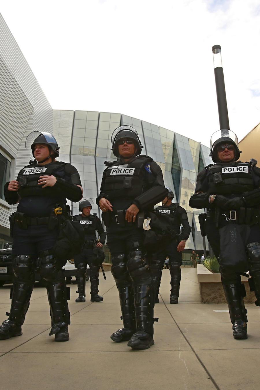 Imagen de archivo de oficiales del Departamento de Policía de Sacramento.