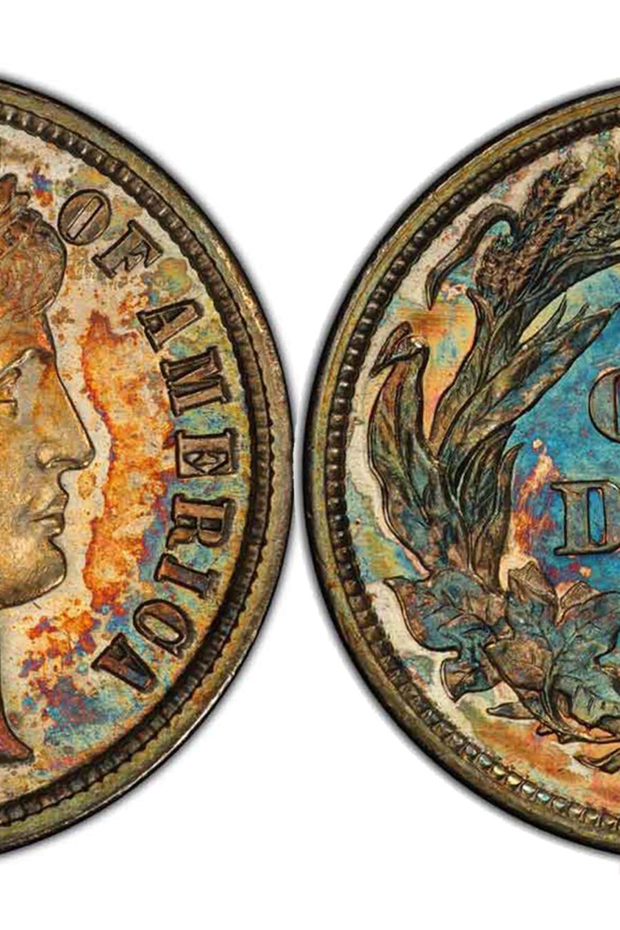 Venden moneda de 10 centavos en más de un millón de dólares