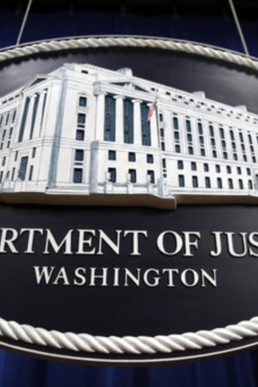 El símbolo del Departamento de Justicia de EE UU, en una imagen de archivo.