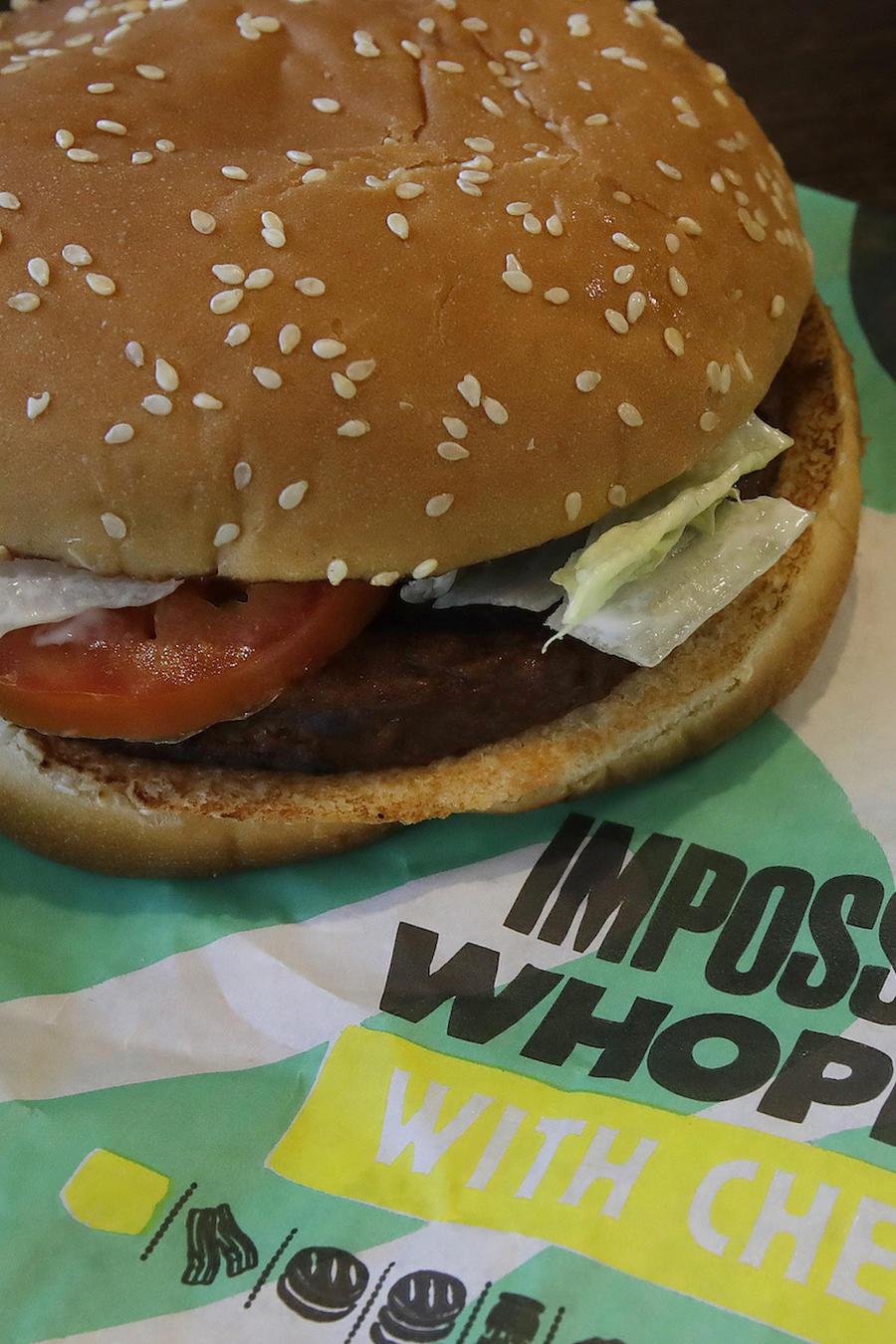 Imagen de archivo de una hamburguesa vegetal de Burger King.