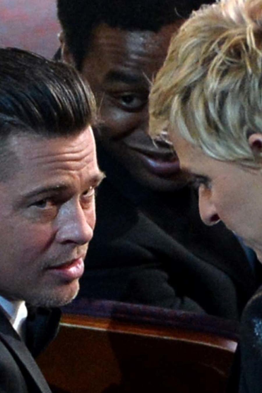 Ellen DeGeneres y Brad Pitt