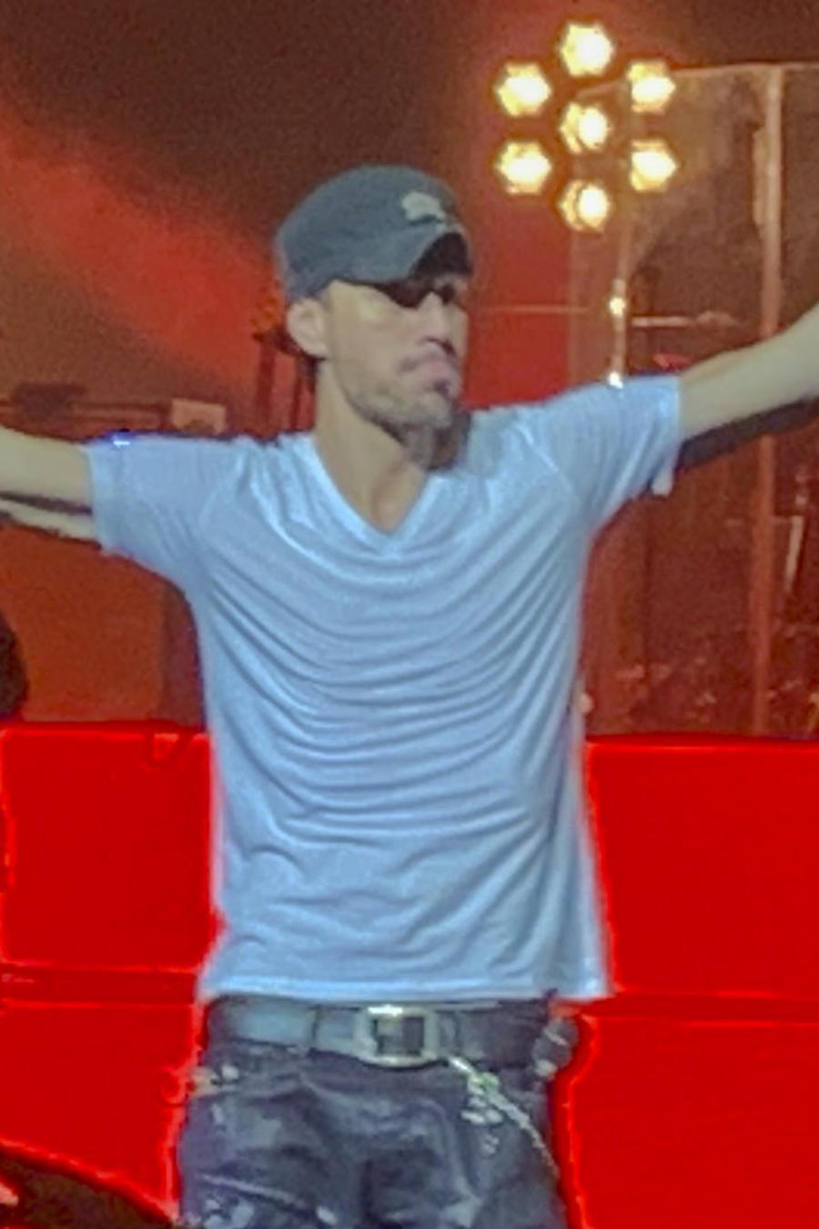 Enrique Iglesias en concierto en Las Vegas