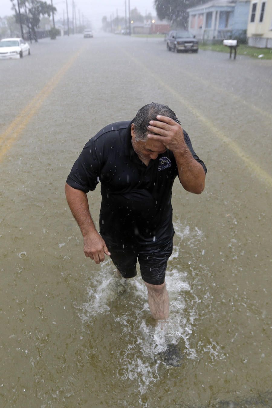 Imagen de las inundaciones causadas por la tormenta Imelda en Galveston, Texas.