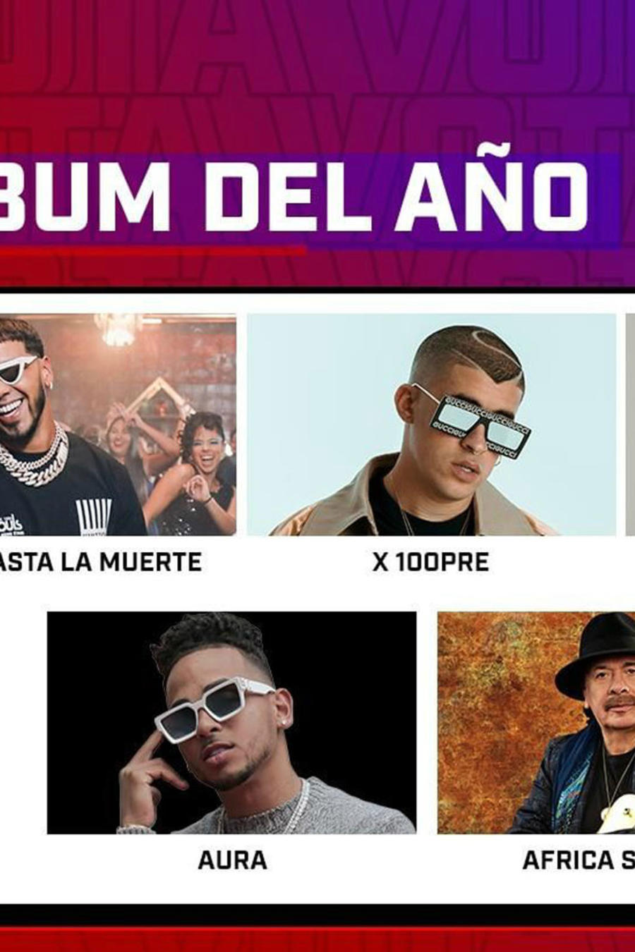 Latin American Music Awards 2019: Nominados Álbum del Año