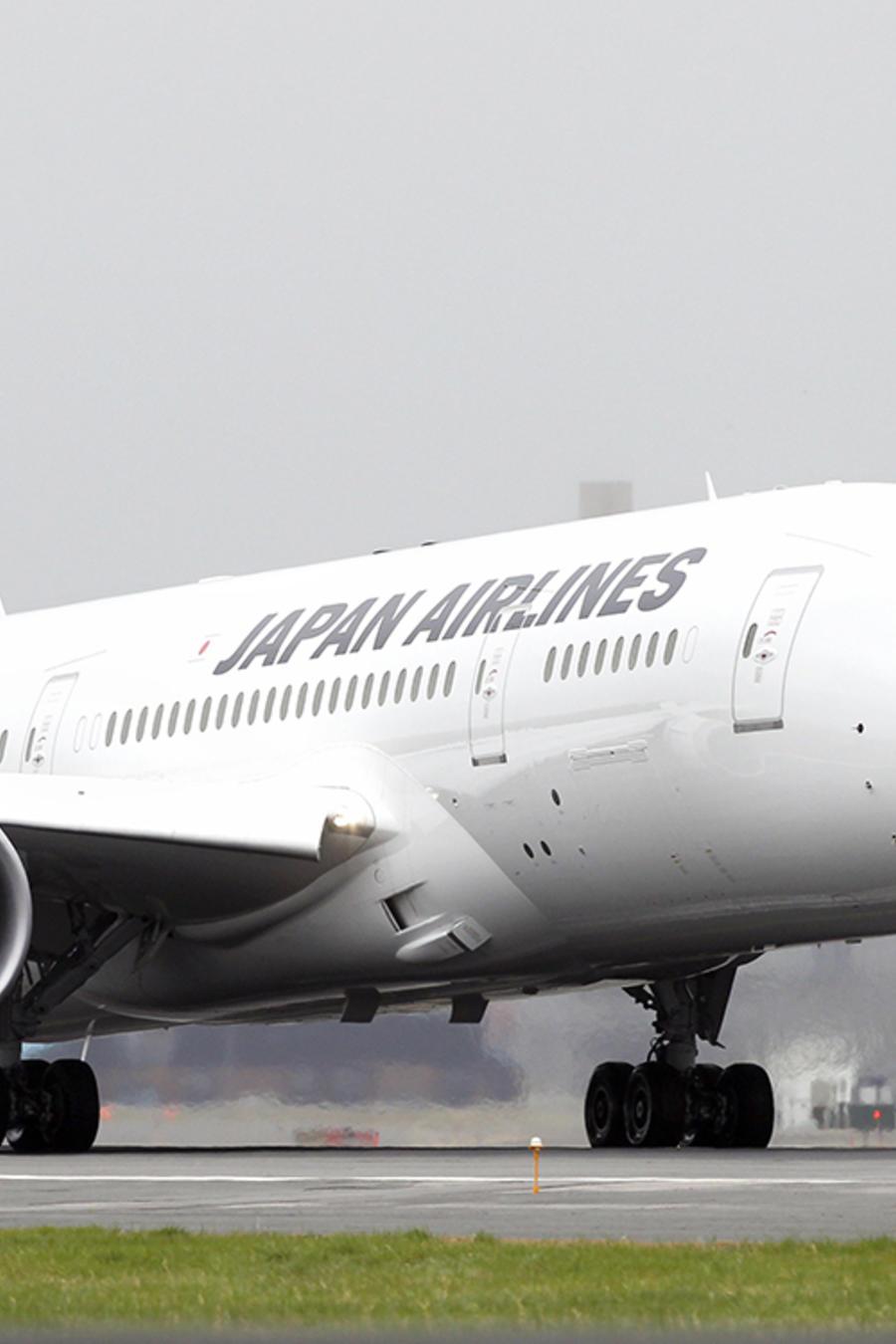 Un Boeing 787 perteneciente a Japan Airlines.