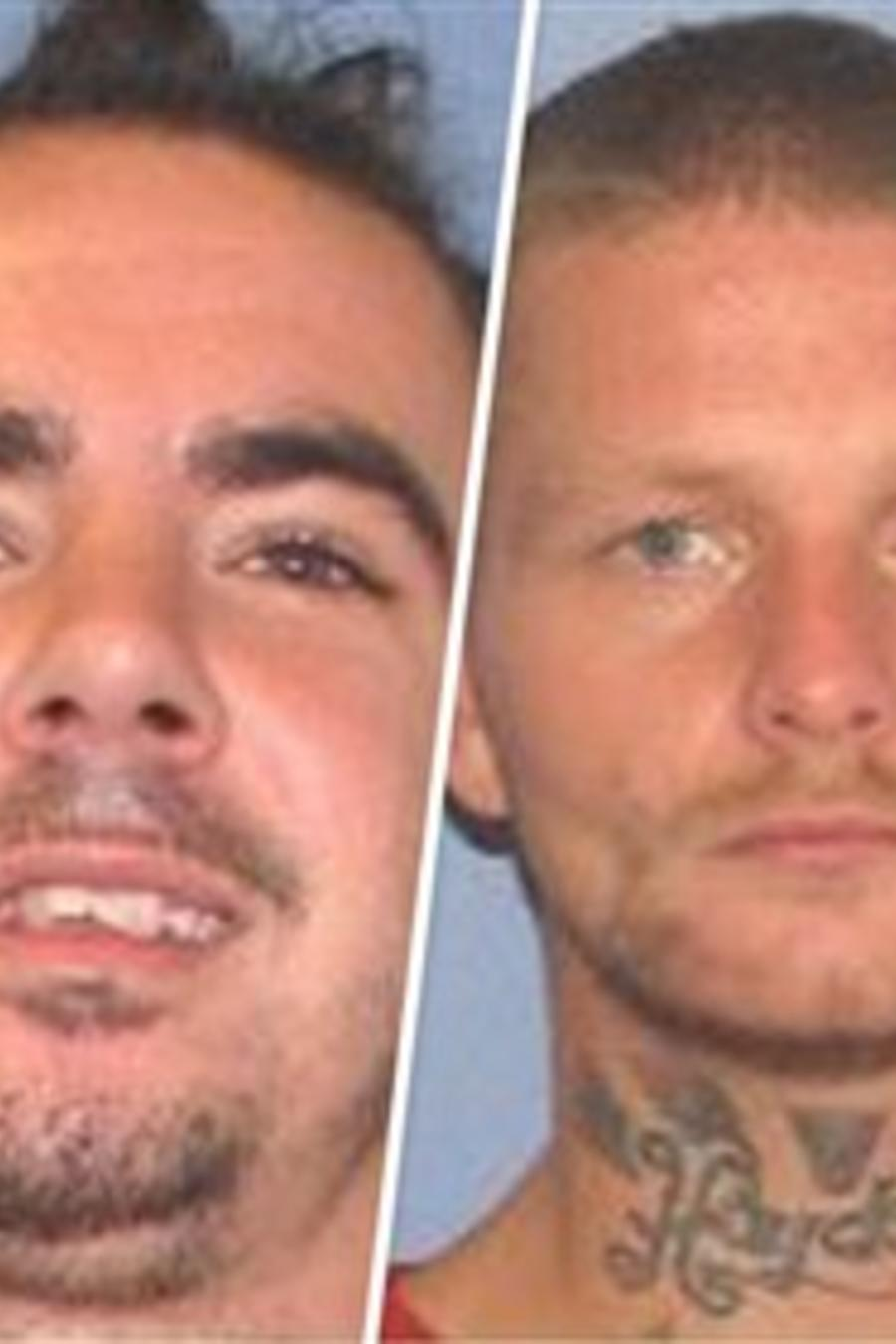 Los cuatros detenidos fugados de una cárcel de Ohio este domingo. Los primeros tres desde la izquierda fueron atrapados por la policía.