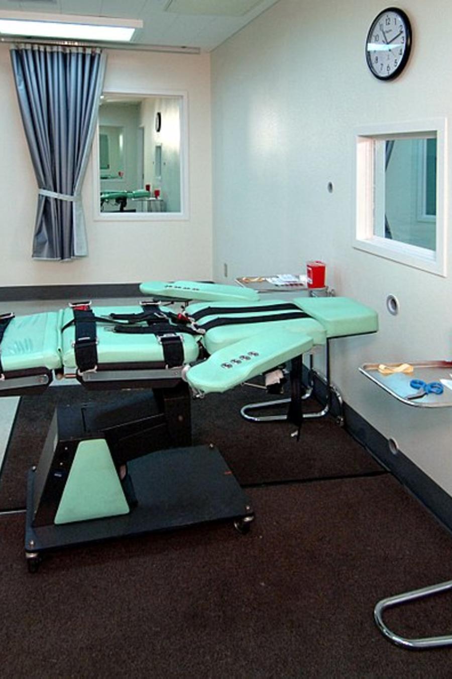 Cámara de ejecución con inyección letal de Estados Unidos.