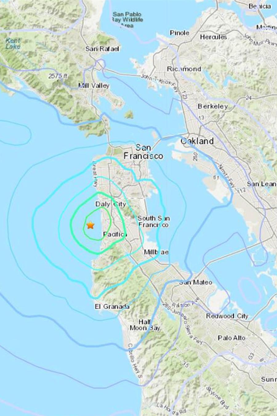 Imagen del terremoto.
