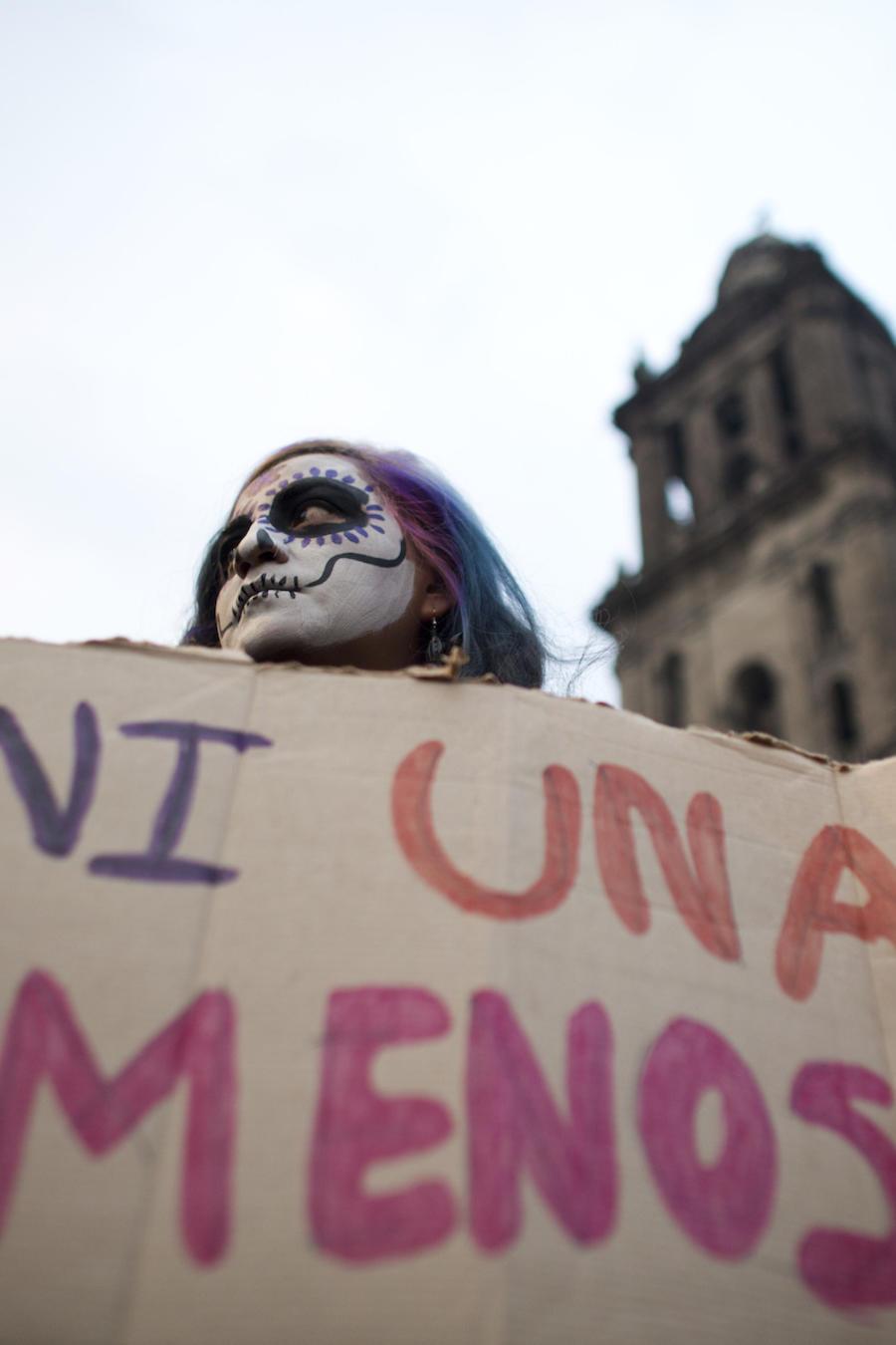 """Imagen de archivo de la marcha """"Ni Una Menos"""" en México en noviembre de 2017."""