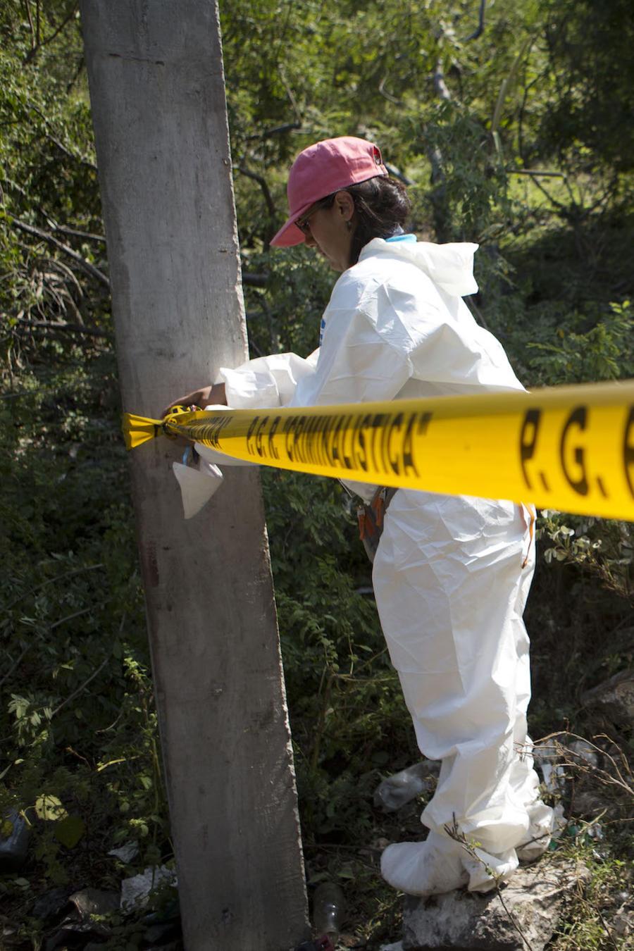 Imagen de archivo de la escena de un crimen en México.