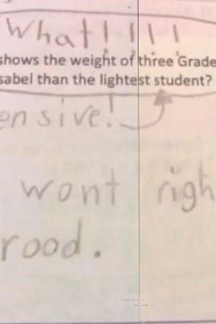 Niña se niega a hacer la tarea y deja esta nota a la maestra