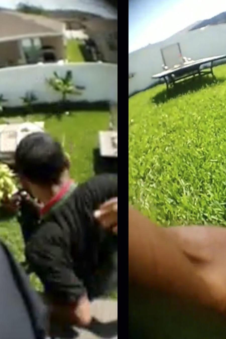 Policía empuja a joven