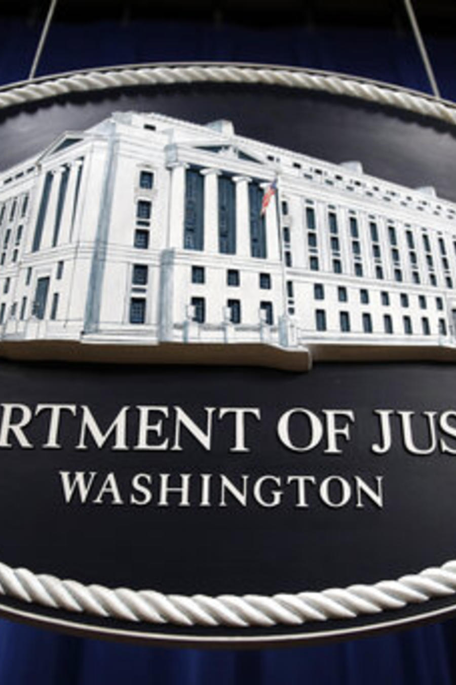 Logo del Departamento de Justicia de EEUU.