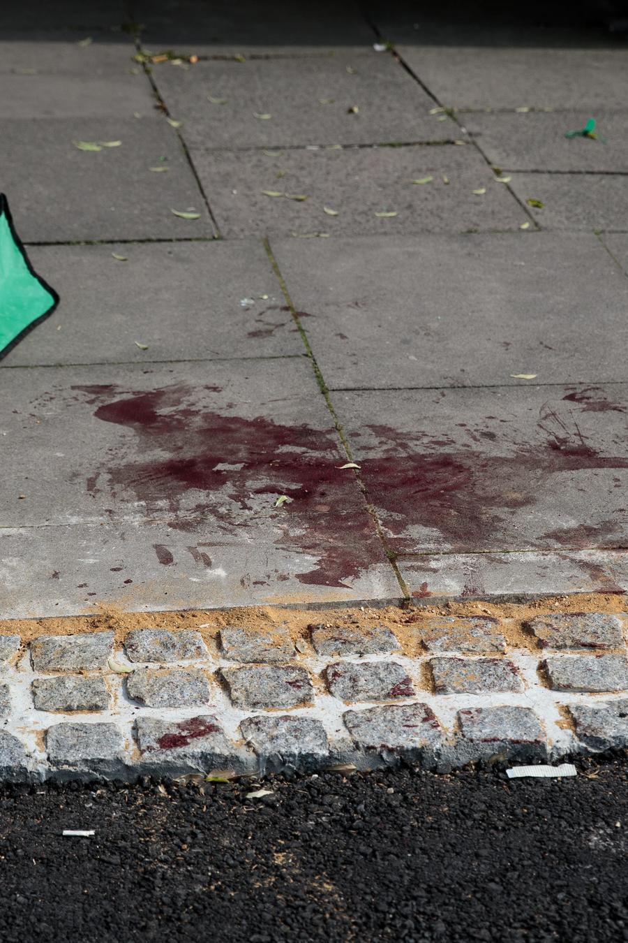 Fotografía de archivo de una escena del crimen