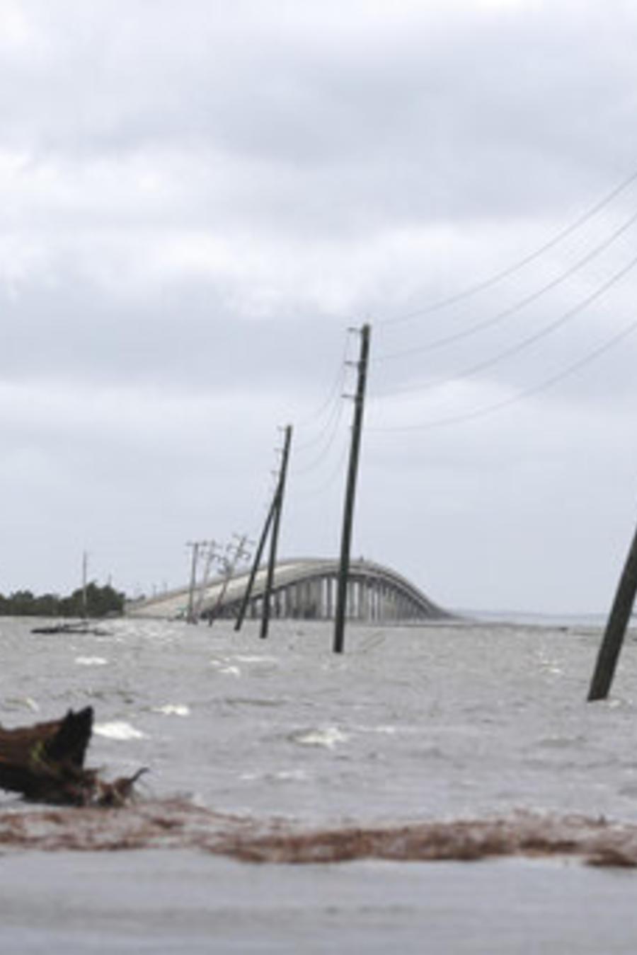 La inundación provocada el pasado 6 de septiembre por el huracán Dorian en Isla Cedar, Carolina del Norte.
