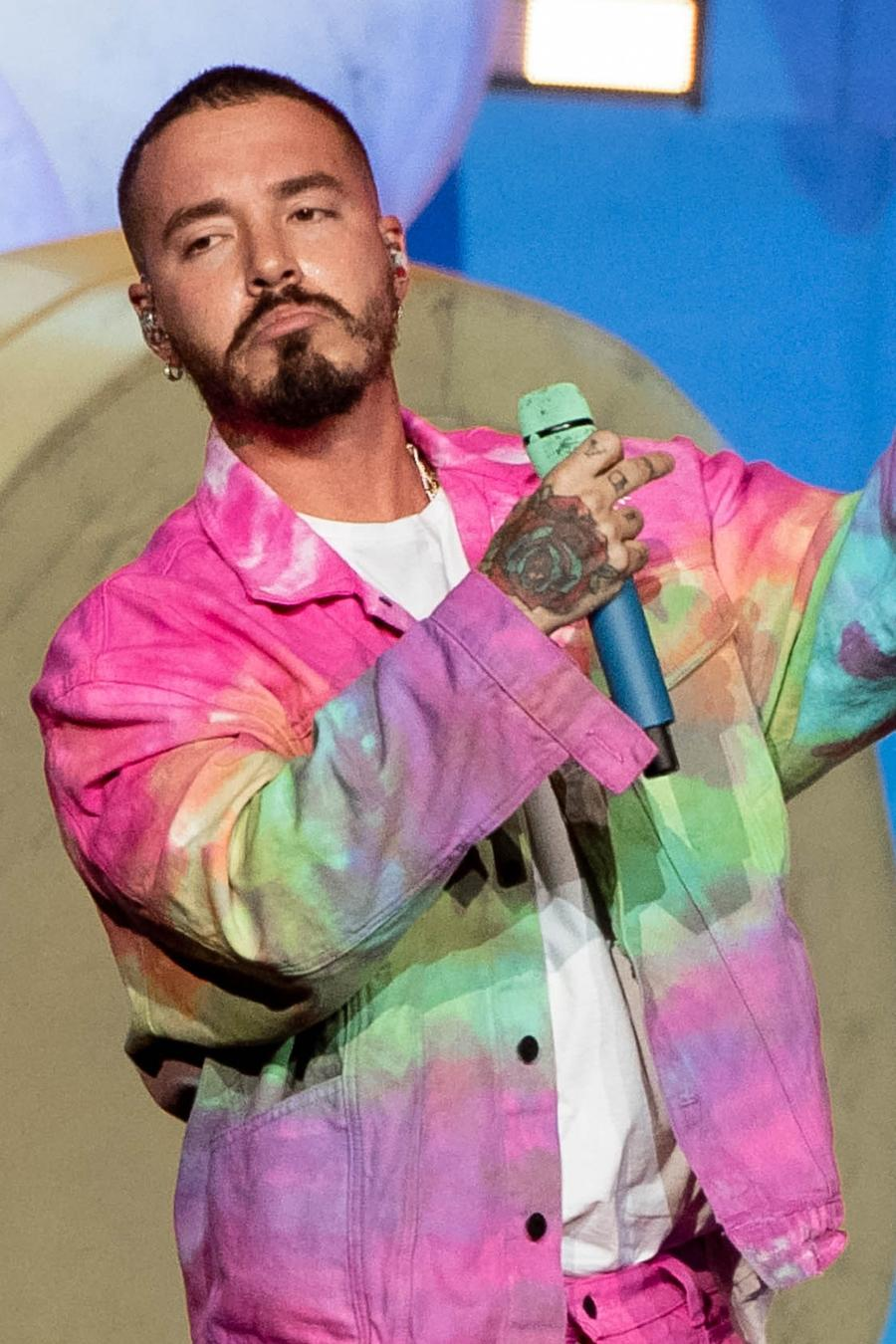J Balvin performs in Los Angeles