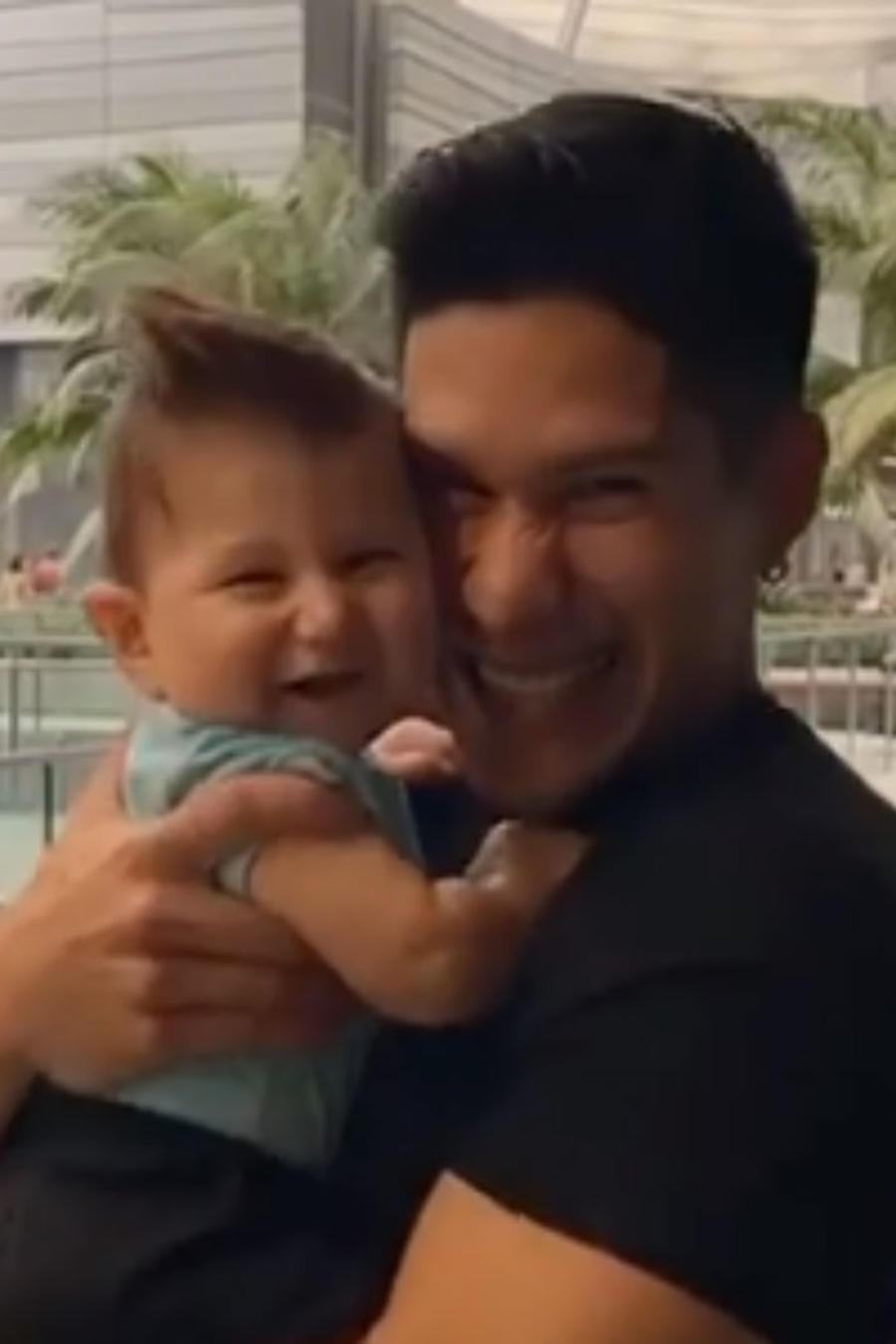 Chyno Miranda con su hijo Lucca