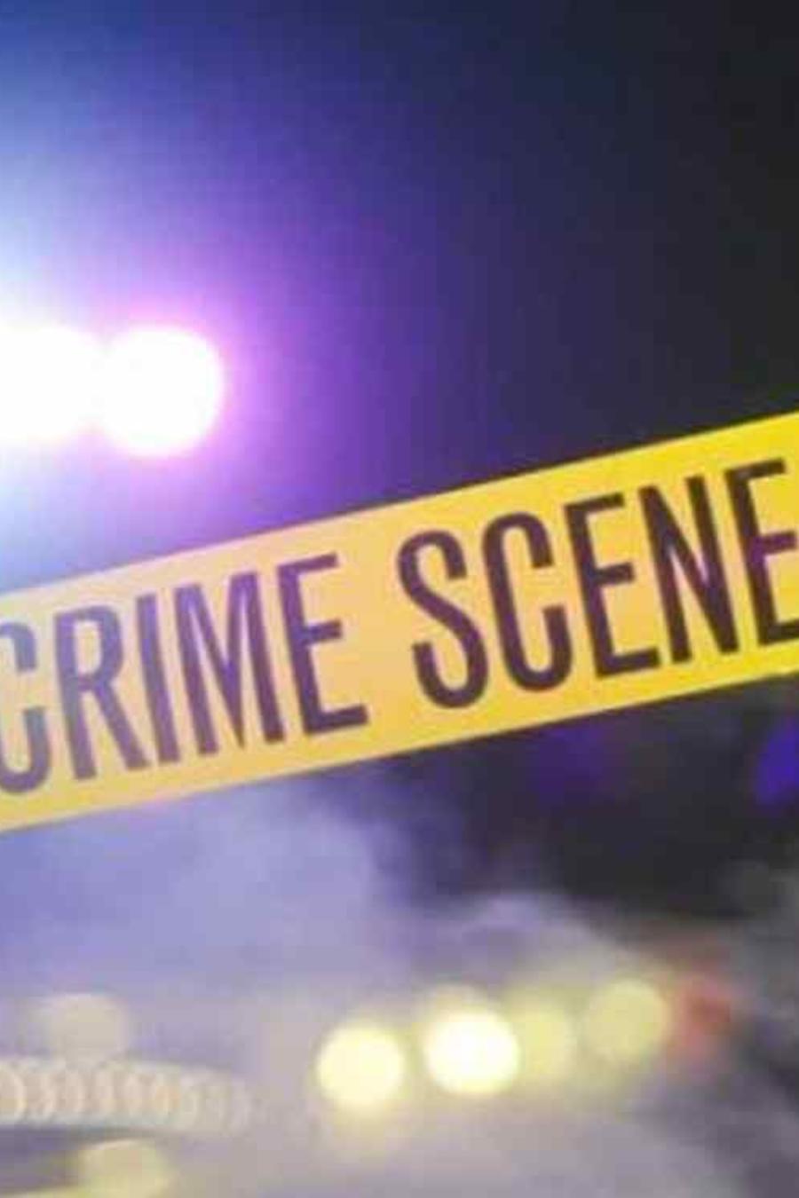 Un cordón policial en una escena del crimen.
