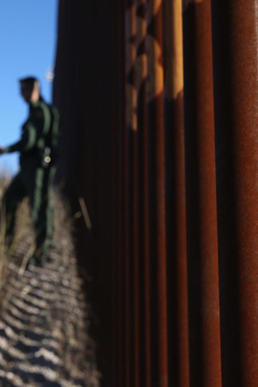 Border Patrol Agents Monitor U.S. Mexico Border