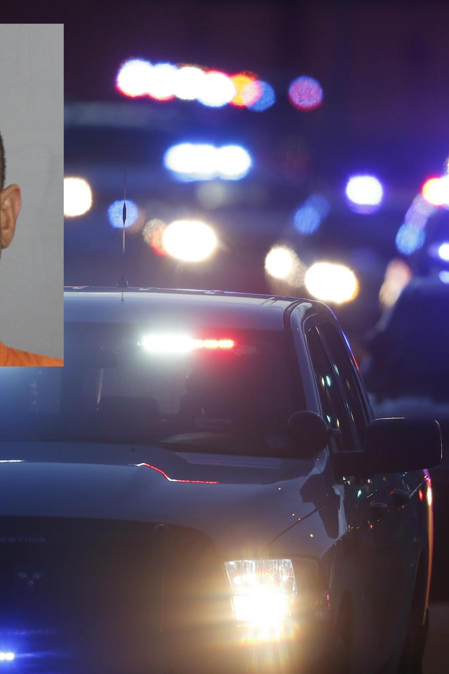 Imagen de archivo de vehículos policiales en Colorado. A la izquierda, Garcés Ortiz.