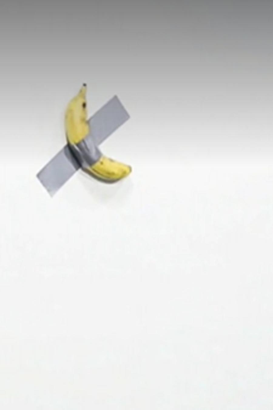 """Comediante"", obra de Maurizio Cattelan. Captura de pantalla de NBC News"