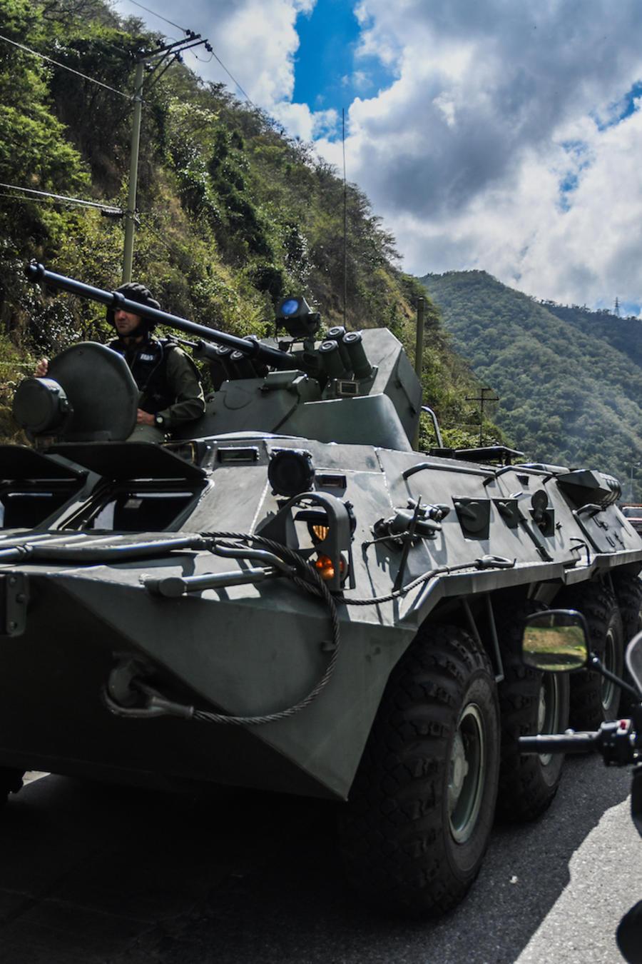 Operación militar en Caracas en enero de 2018.