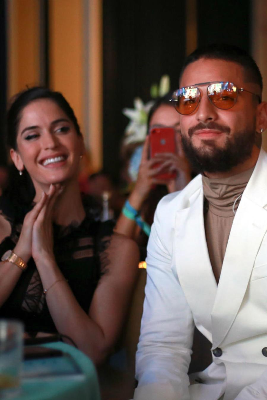 Maluma y Natalía Barulích