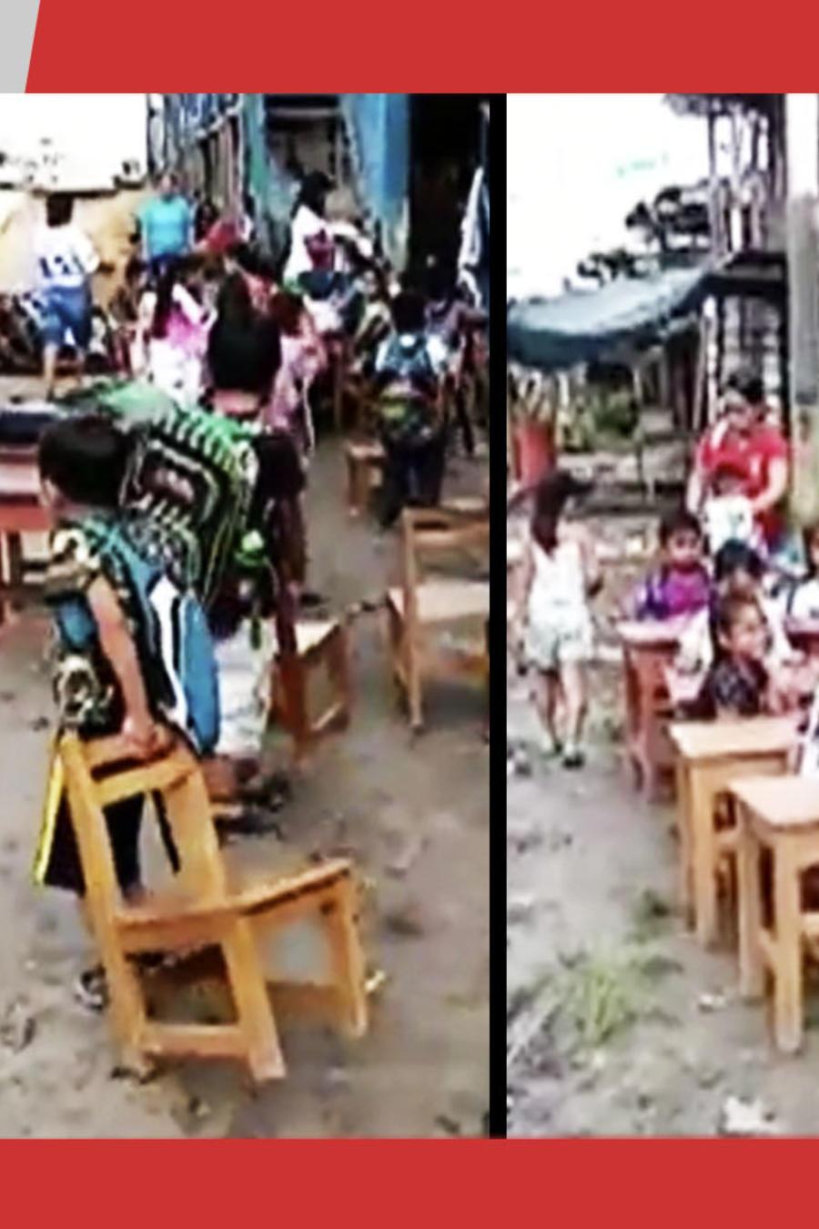 Niños escuela Perú