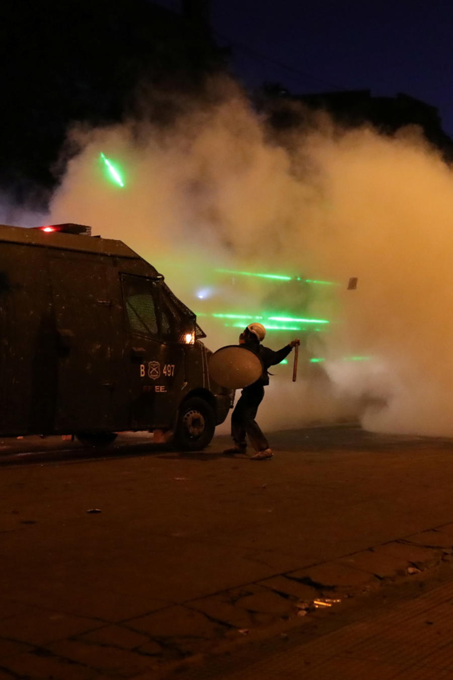 Protestas en Chile este sábado contra el gobierno.