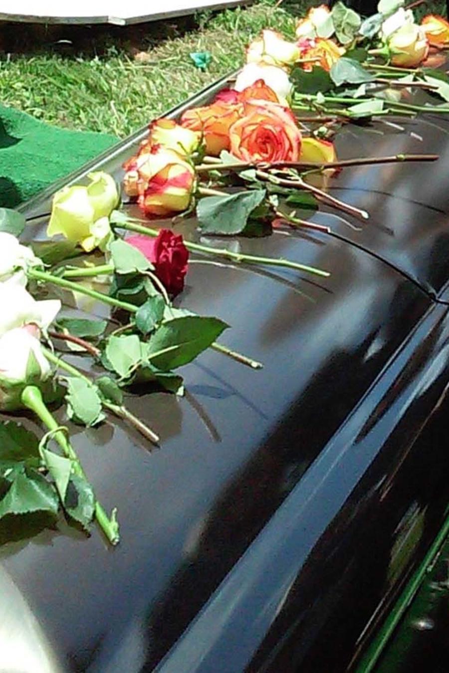 Féretro en funeral