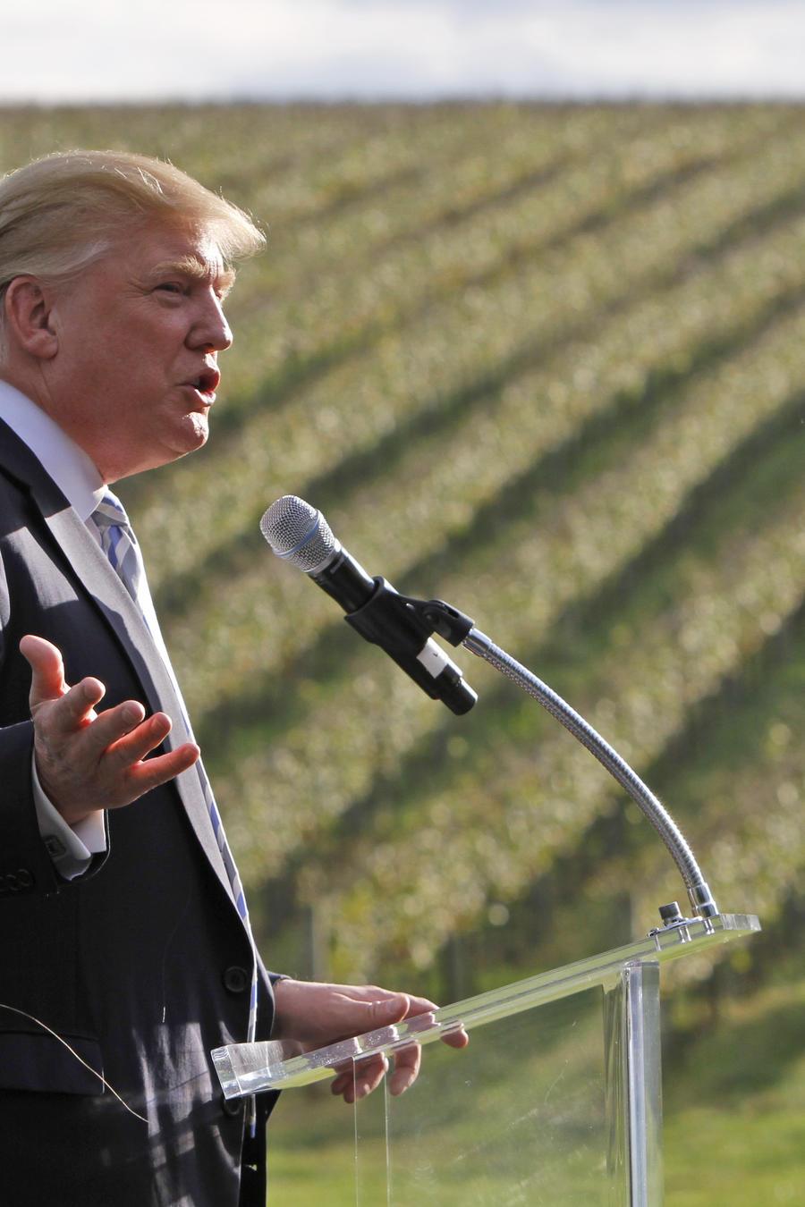 Trump en su viñedo de Charlottesville, Virginia